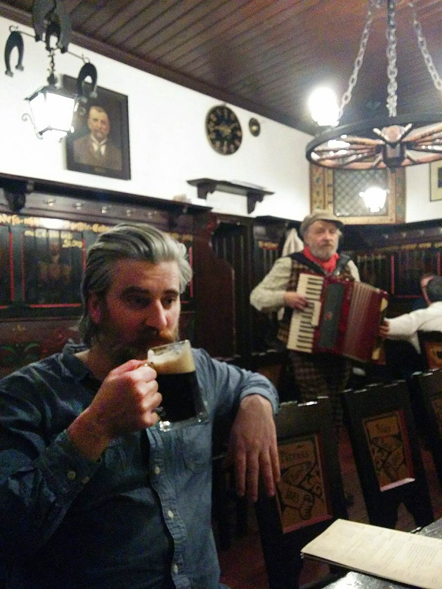 David Gaughran at Pivovar U Fleků in Prague, the Czech Republic. He now frequents pubs in Dublin. (Click to enlarge.)