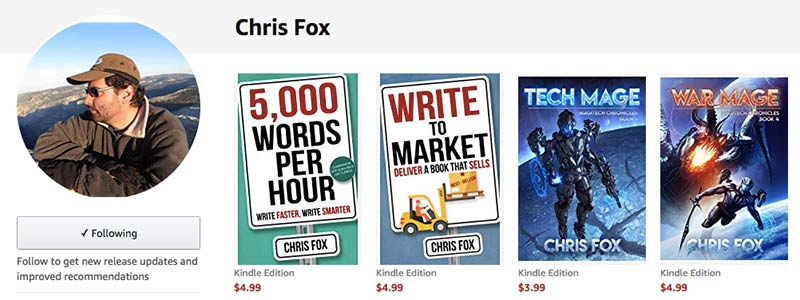 Chris Fox's author page on Amazon.