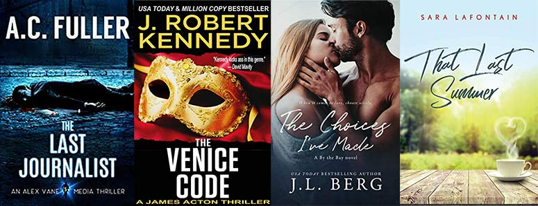 Murder in Seattle, a conspiracy in Venice, romance & fantasy